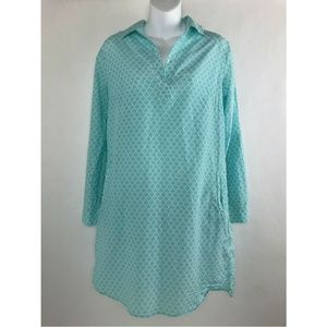 Kut from the Kloth Teal Turquoise Silk Blend Shirt